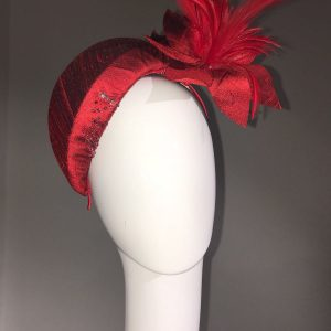 Red Silk Percher Hat
