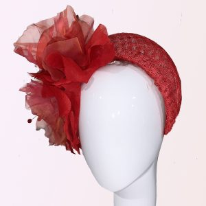 Red Crown Flower Headband