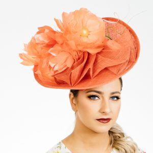 Orange Flower Upbrim Hat