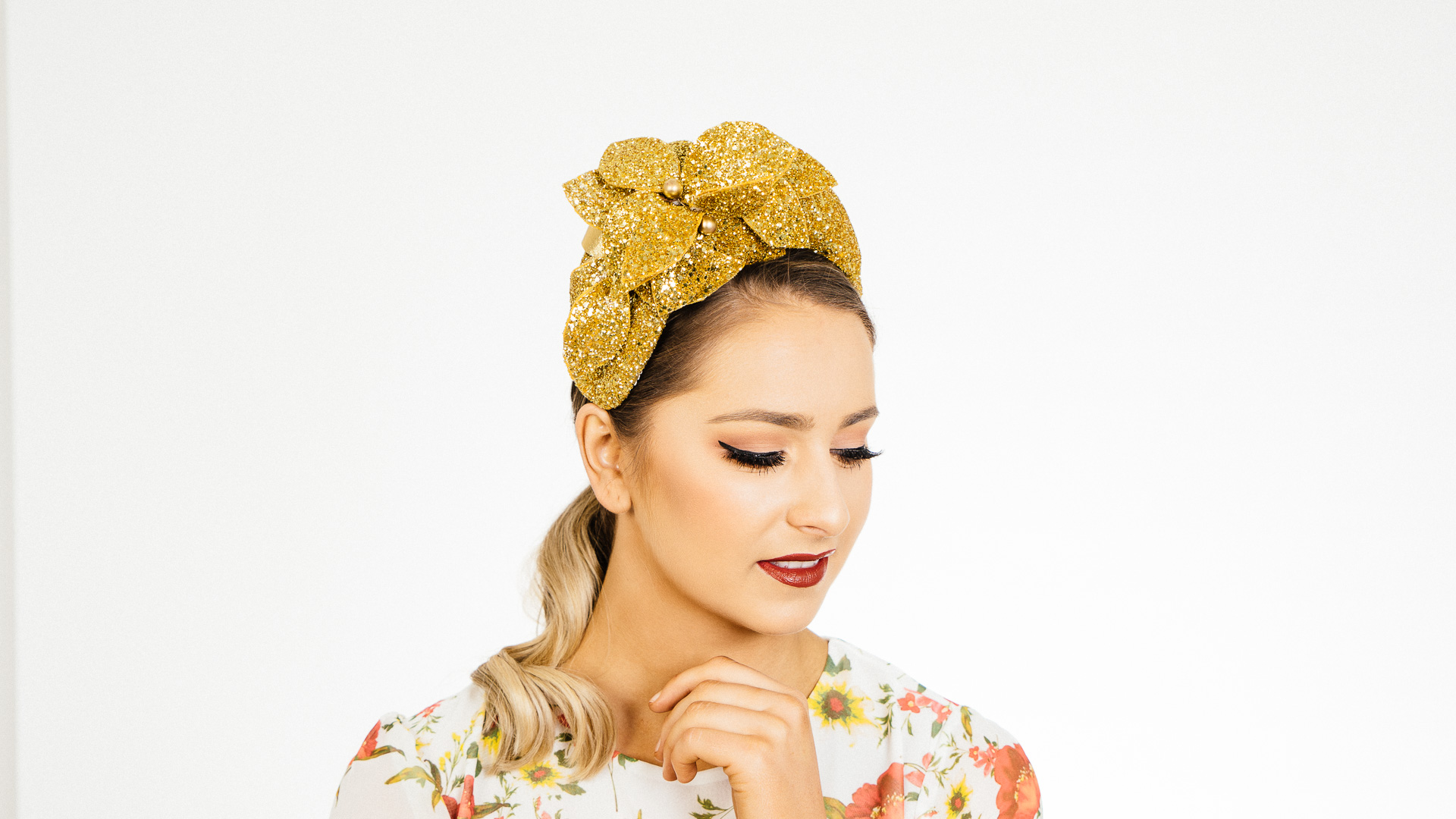 Gold Glass Crown Headband