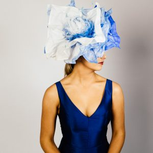 Sky Blue Flower Fascinator