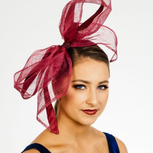 Cerise Pink Bow Fascinator