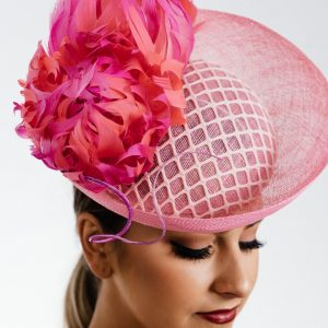 Pink Upbrim Flower Percher