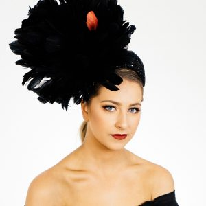 Black Feather Crown Fascinator