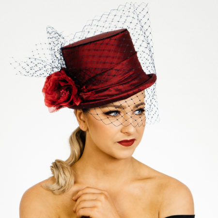 Red Burgundy Silk TopHat