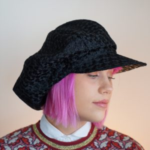 black newsboy cap1