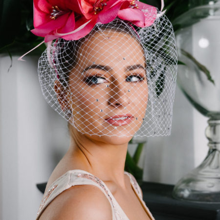 Pink Floral Silk Crown