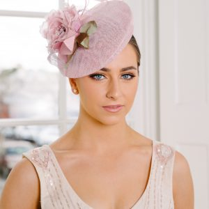 Pink Button Flower Hat