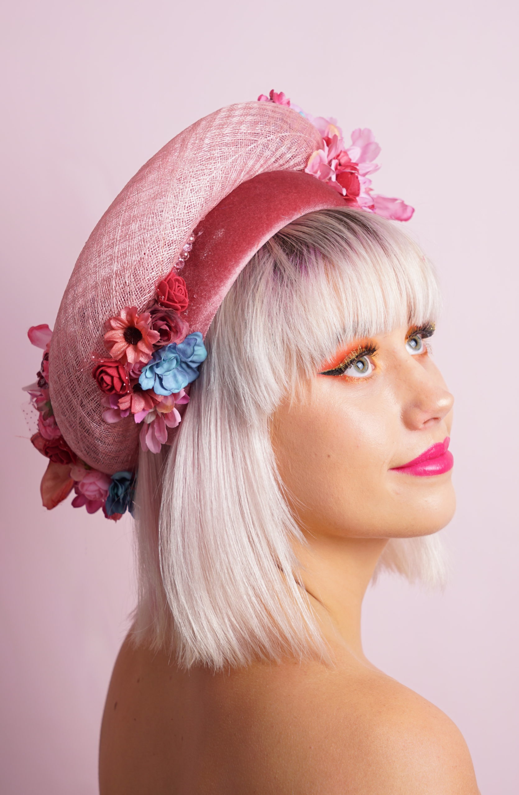 floral small french ring and headband side 2