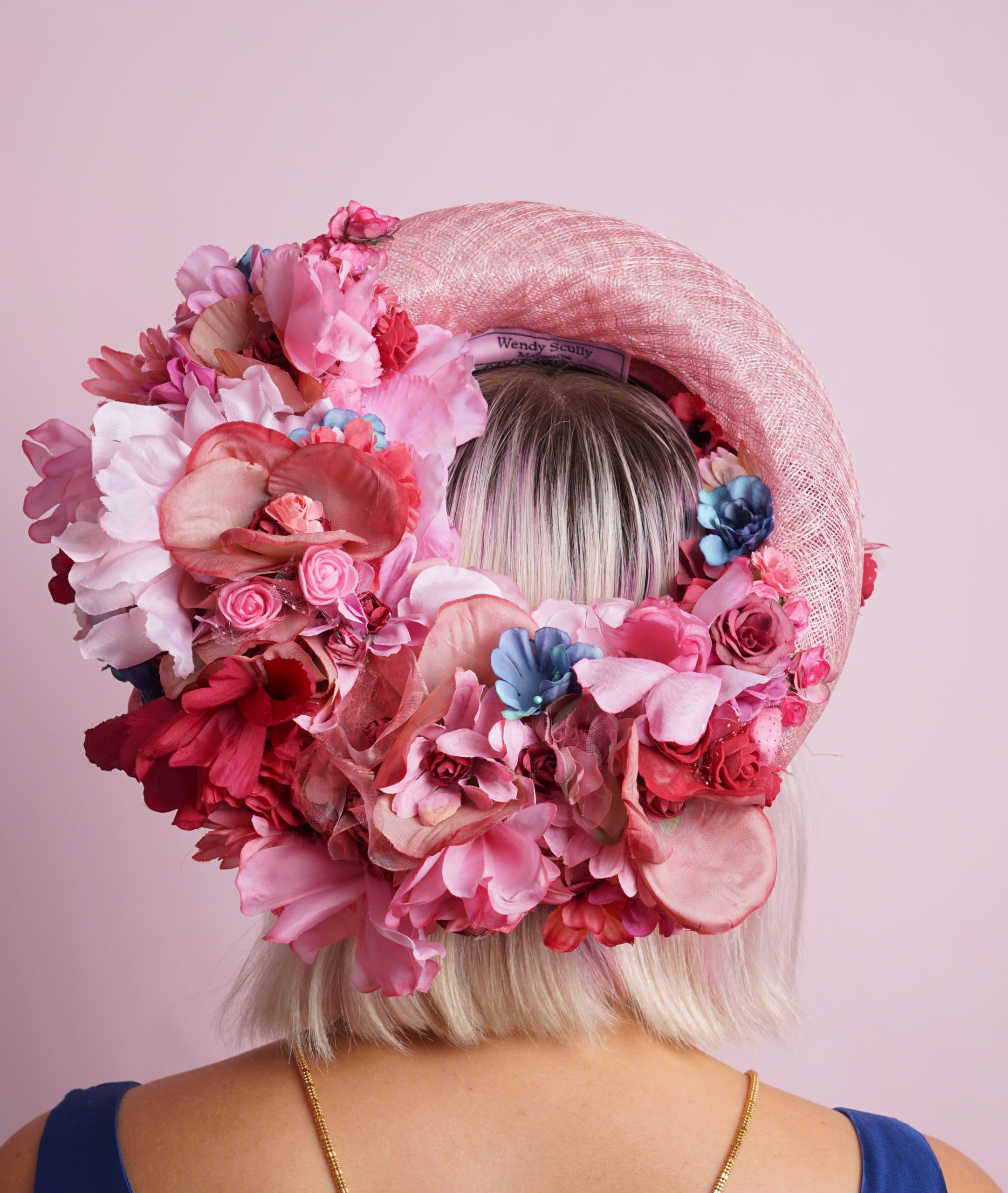 floral small french ring and headband back