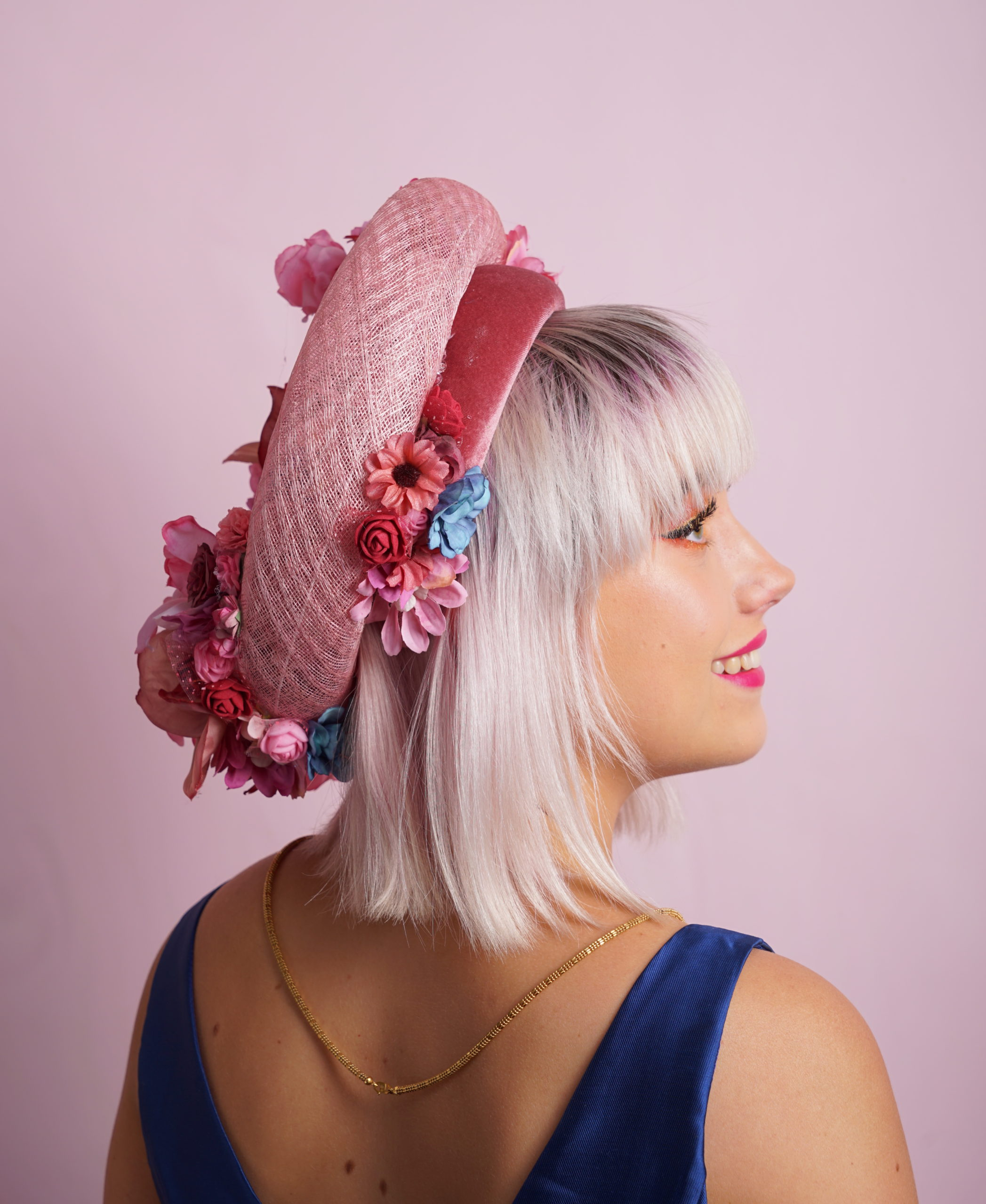floral small french ring and headband side1