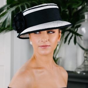 Black White Lace Hat
