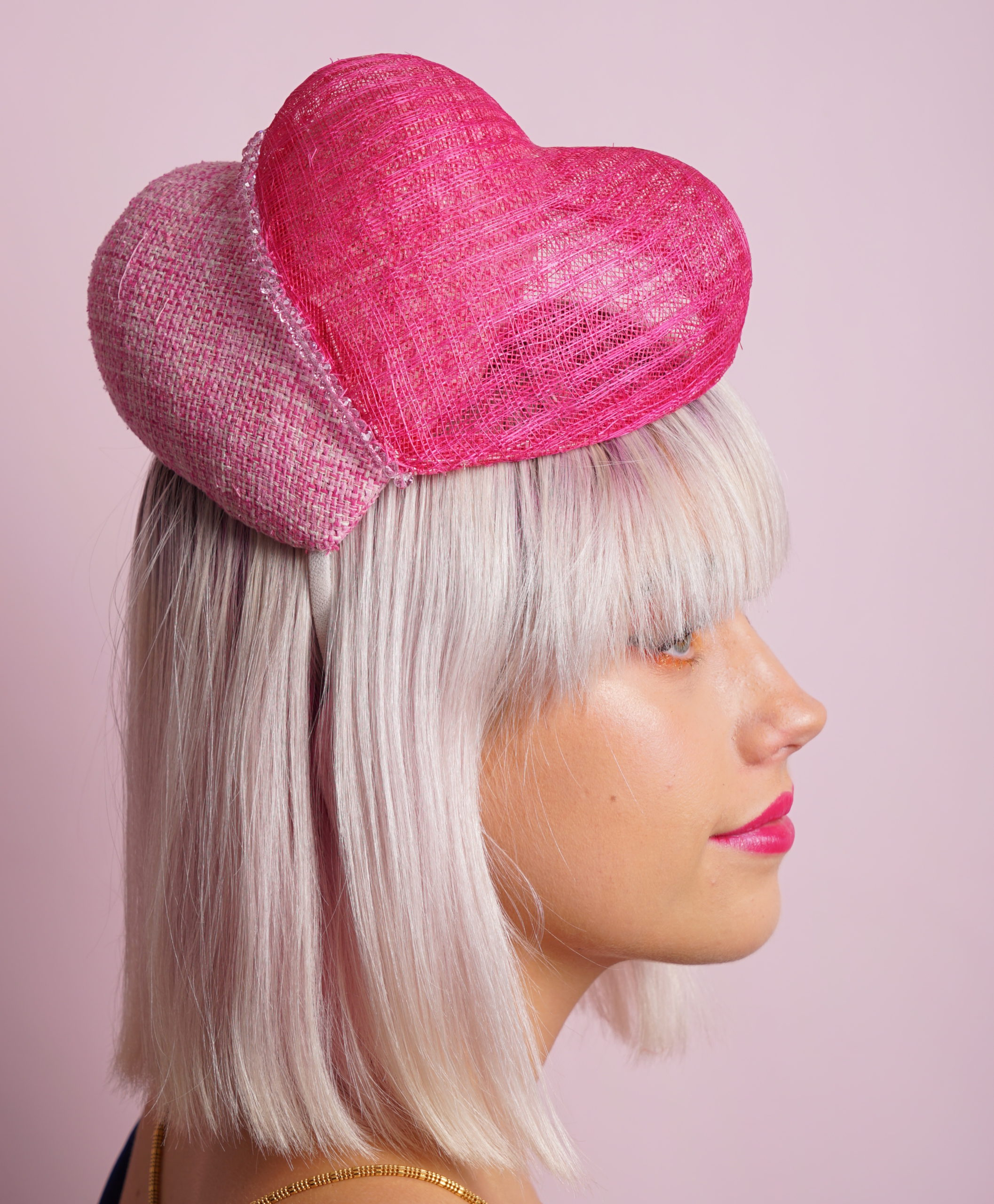 Double Pink Heart side view