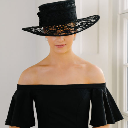 Black Lace Brimmed Hat