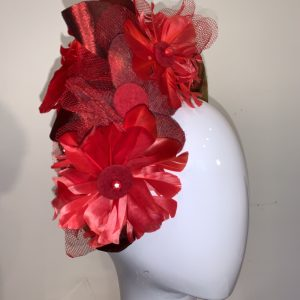 Red Tartan Crown Headband