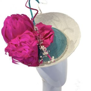 Pink Teal Upbrim Percher