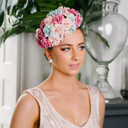 Pastel Flower Covered Hat