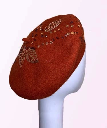 Rust Wool French Beret