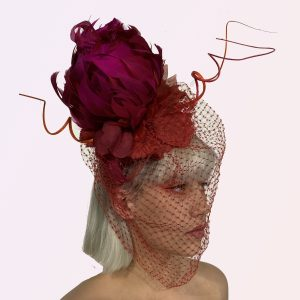 Red Feather Banksia Fascinator