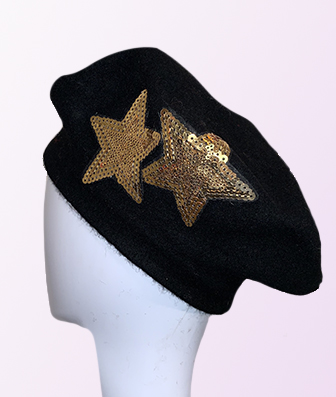 Black Gold French Beret