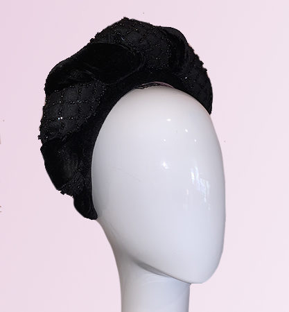 Black Silk Velvet Headband