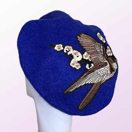 Blue Wool French Beret