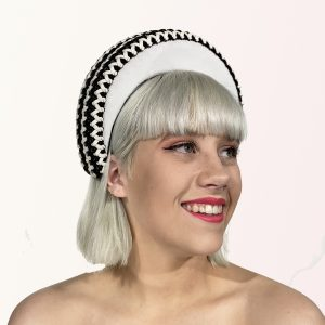 Black White Leather Crown