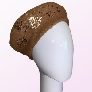 Caramel Wool French Beret