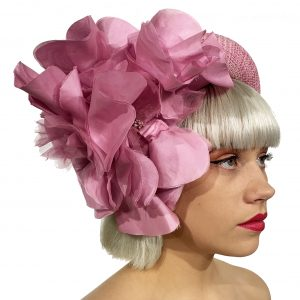 Pink Silk Flower Crown