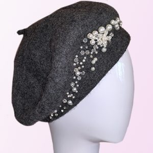 Grey Pearl French Beret