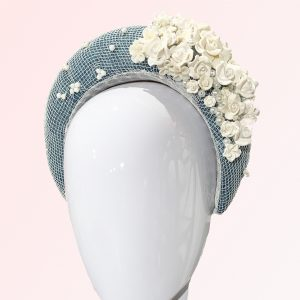 Teal Mesh Flower Headband