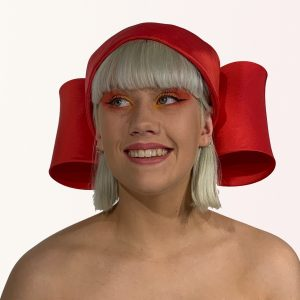 Red Bow Toque Hat