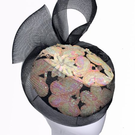 Pastel Sequined Button Hat
