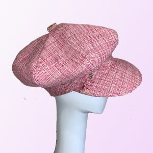 Pink Chanel Newsboy Cap