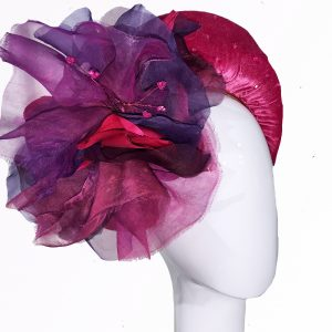 Cerise Silk Velvet Crown