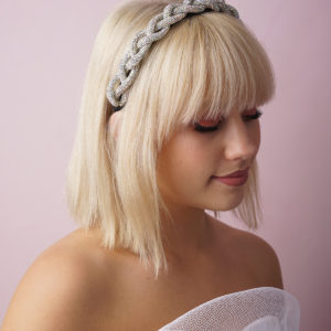 Silver Plait Bling Headband
