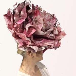 Pink Rose Flower Hat