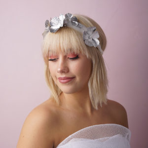 Soft fabric flower headband