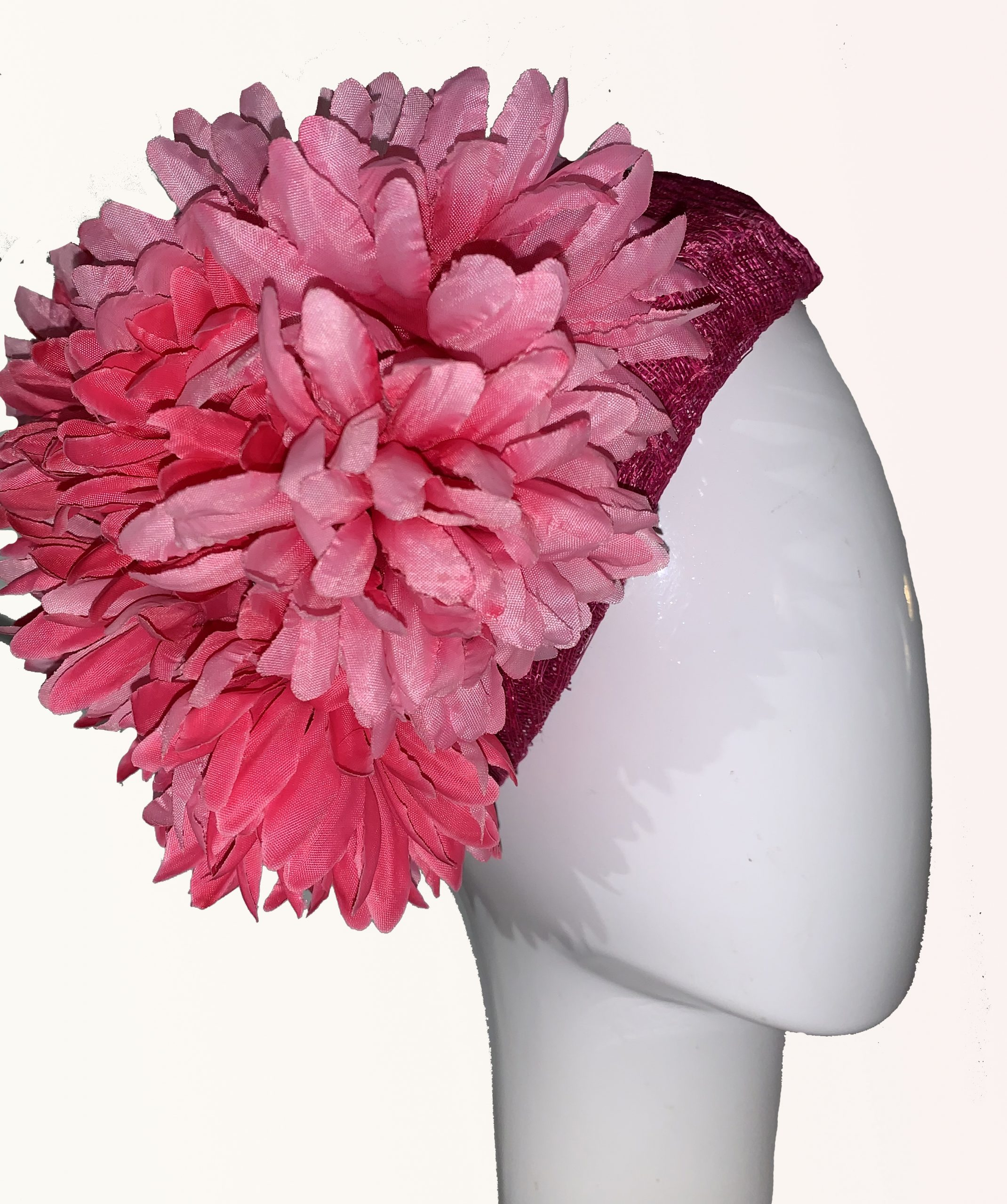 Pink Silk Flower Hat