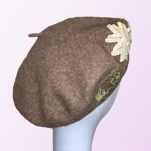 Light Brown Wool Beret