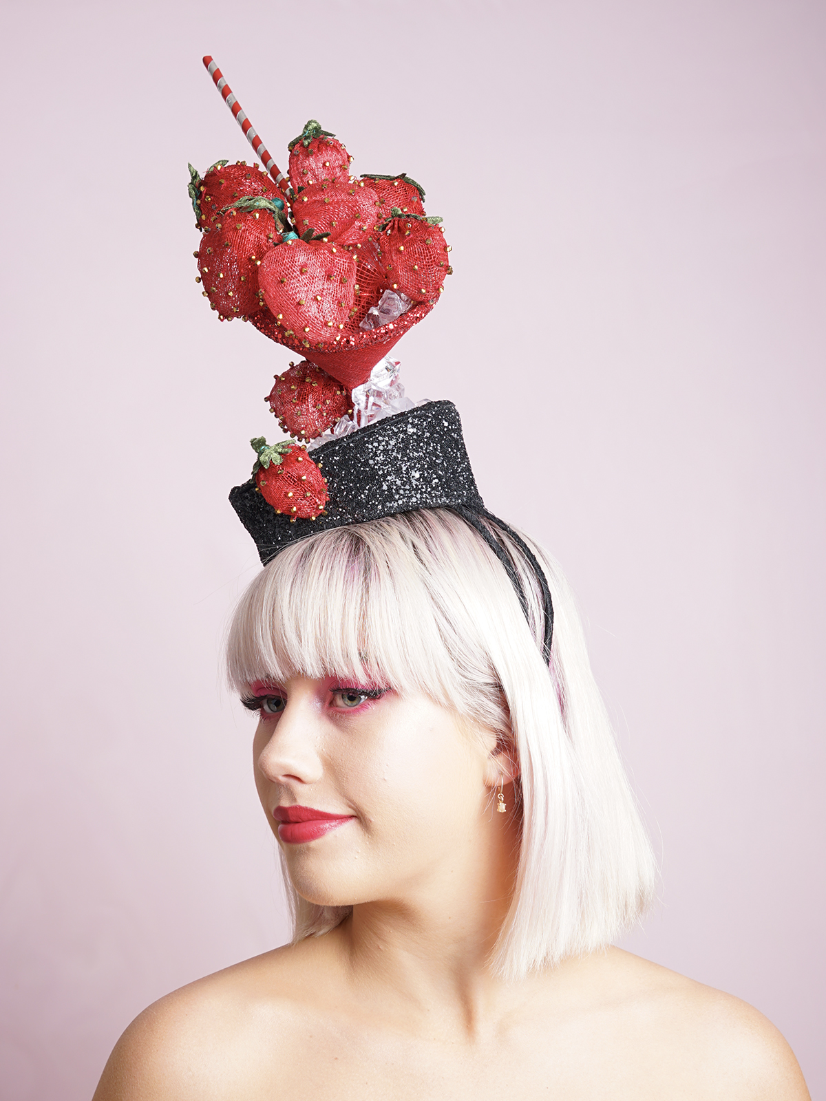 Tipsy cocktail headpiece