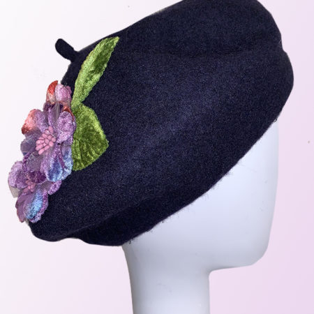 Navy Blue French Beret