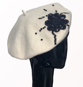 White Wool French Beret